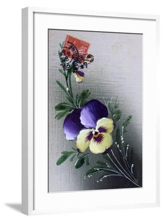 French Flower Postcard, C1900--Framed Giclee Print