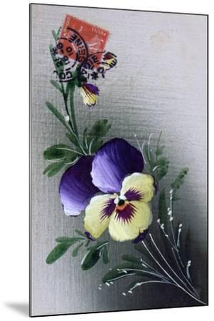 French Flower Postcard, C1900--Mounted Giclee Print