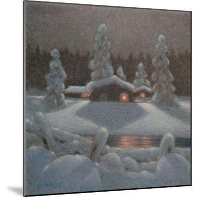 Winter Night-Bror Lindh-Mounted Giclee Print