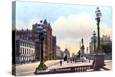 Spring Street, Melbourne, Australia, 1912--Stretched Canvas Print