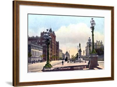 Spring Street, Melbourne, Australia, 1912--Framed Giclee Print