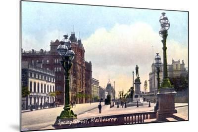 Spring Street, Melbourne, Australia, 1912--Mounted Giclee Print