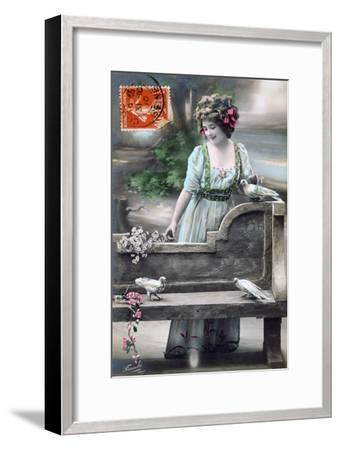 French Postcard, C1900--Framed Giclee Print