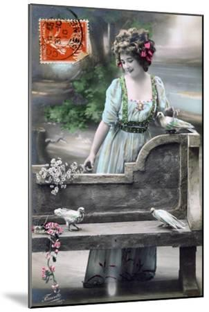 French Postcard, C1900--Mounted Giclee Print
