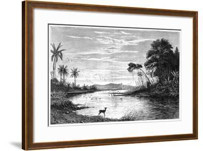 A River Scene in Venezuela, 1877--Framed Giclee Print