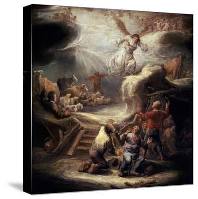 The Annunciation to the Shepherds, 17th Century-Benjamin Gerritz Cuyp-Stretched Canvas Print