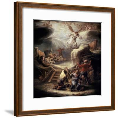 The Annunciation to the Shepherds, 17th Century-Benjamin Gerritz Cuyp-Framed Giclee Print