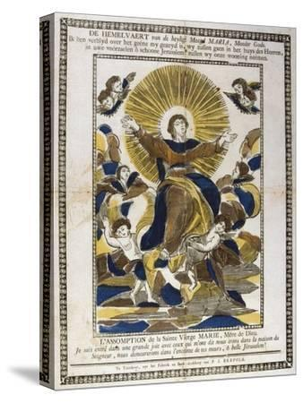 Assumption of the Virgin Mary, 19th Century--Stretched Canvas Print