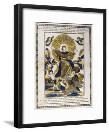 Assumption of the Virgin Mary, 19th Century--Framed Giclee Print