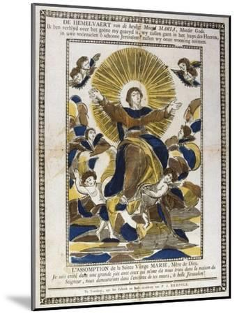 Assumption of the Virgin Mary, 19th Century--Mounted Giclee Print