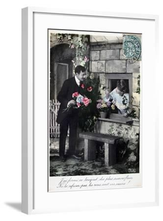 French Romantic Postcard, C1900--Framed Giclee Print
