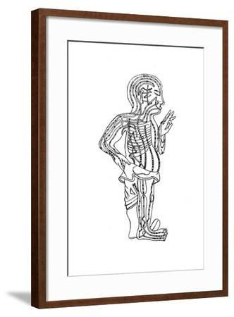Acupuncture Chart, 19th Century--Framed Giclee Print