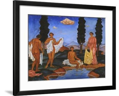 Bathers, 1910-Eugeniusz Zak-Framed Giclee Print