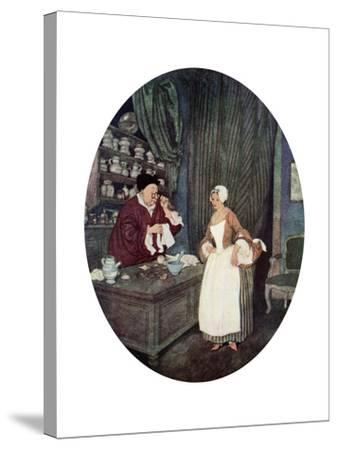 I Never at Saw Sewing So Small, C1900-1950--Stretched Canvas Print