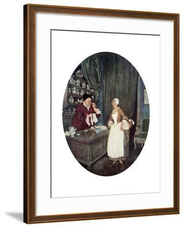 I Never at Saw Sewing So Small, C1900-1950--Framed Giclee Print