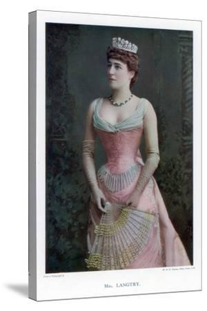 Lillie Langtry, British Actress, 1901-W&d Downey-Stretched Canvas Print