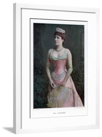 Lillie Langtry, British Actress, 1901-W&d Downey-Framed Giclee Print