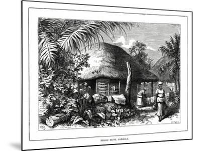 Negro Huts, Jamaica, 19th Century--Mounted Giclee Print
