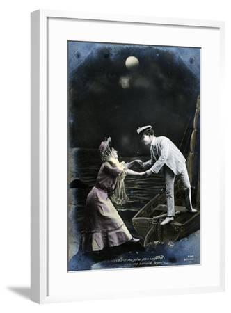Vintage French Postcard, C1900--Framed Giclee Print