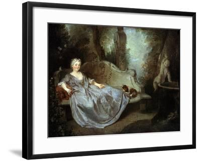 A Lady in a Garden, 18th Century-Nicolas Lancret-Framed Giclee Print