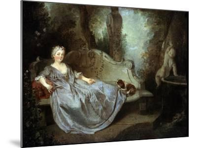 A Lady in a Garden, 18th Century-Nicolas Lancret-Mounted Giclee Print