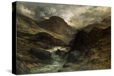 A Canyon, 1878-Gustave Dor?-Stretched Canvas Print