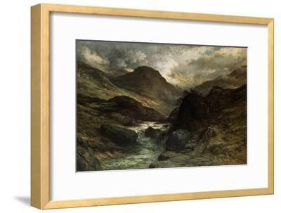 A Canyon, 1878-Gustave Dor?-Framed Giclee Print