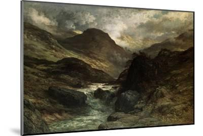 A Canyon, 1878-Gustave Dor?-Mounted Giclee Print