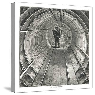 The Tower Tunnel, 1878-Walter Thornbury-Stretched Canvas Print
