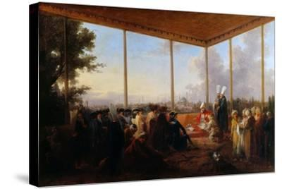 Audience Given in Constantinople by the Grand Vizier Aimali Carac for Francois-Emmanuel Guignard-Francesco Giuseppe Casanova-Stretched Canvas Print