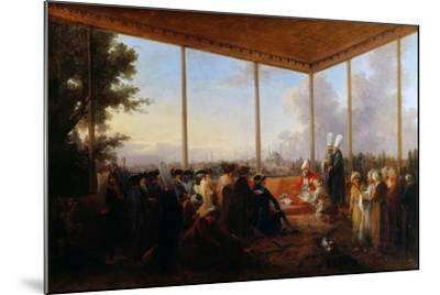 Audience Given in Constantinople by the Grand Vizier Aimali Carac for Francois-Emmanuel Guignard-Francesco Giuseppe Casanova-Mounted Giclee Print