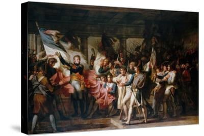 Marshal Ney and the Soldiers of the 76th Regiment of the Line Retrieve their Colors-Charles Meynier-Stretched Canvas Print
