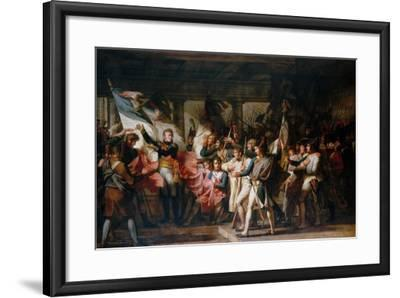 Marshal Ney and the Soldiers of the 76th Regiment of the Line Retrieve their Colors-Charles Meynier-Framed Giclee Print