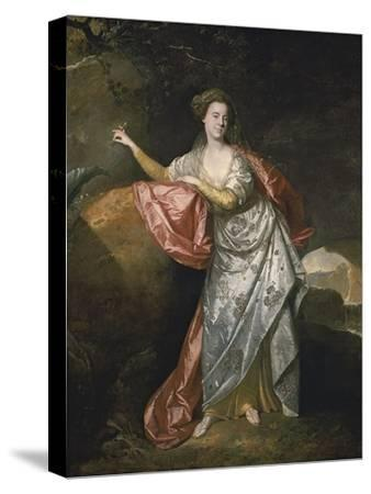 Ann Cargill (Nee Brow) as Miranda in the Tempest by Shakespeare. London, Covent Garden Theatre-Johann Zoffani-Stretched Canvas Print