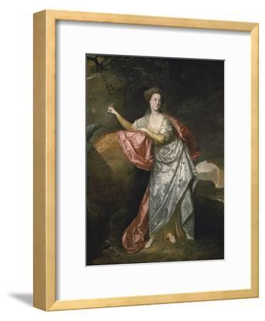 Ann Cargill (Nee Brow) as Miranda in the Tempest by Shakespeare. London, Covent Garden Theatre-Johann Zoffani-Framed Giclee Print