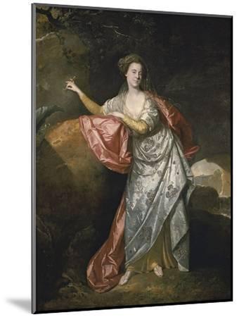 Ann Cargill (Nee Brow) as Miranda in the Tempest by Shakespeare. London, Covent Garden Theatre-Johann Zoffani-Mounted Giclee Print
