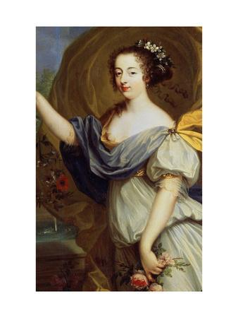 Portrait of Duchess De La Valliere as Flora, 17th Century-Pierre Mignard-Framed Giclee Print