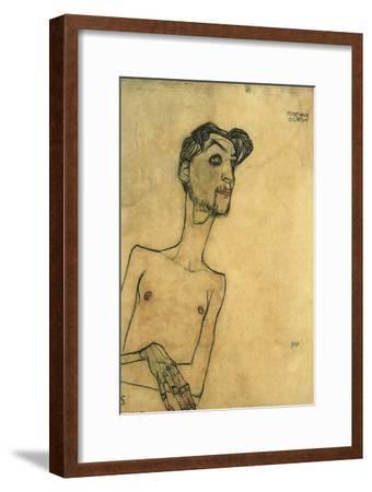 Mime Van Osen, 1910-Egon Schiele-Framed Giclee Print