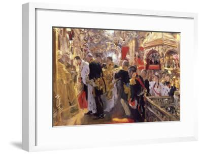 The Coronation of Emperor Nicholas II in the Assumption Cathedral, 1896-Valentin Serov-Framed Giclee Print