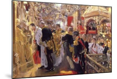 The Coronation of Emperor Nicholas II in the Assumption Cathedral, 1896-Valentin Serov-Mounted Giclee Print