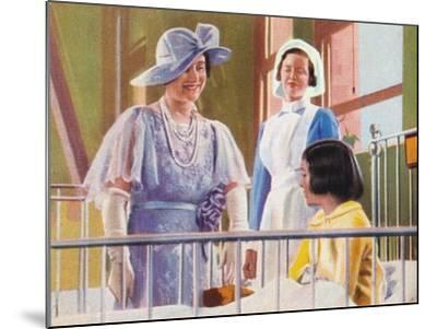 Queen Elizabeth Visiting a Children's Ward at the Middlesex Hospital, 1935--Mounted Giclee Print