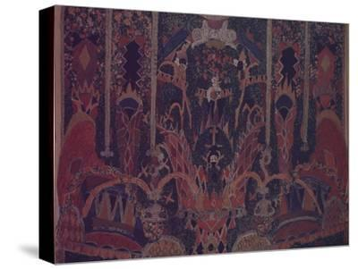 Design of Masquerade Curtain for the Theatre Play the Masquerade by M. Lermontov, 1917-Alexander Yakovlevich Golovin-Stretched Canvas Print