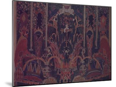Design of Masquerade Curtain for the Theatre Play the Masquerade by M. Lermontov, 1917-Alexander Yakovlevich Golovin-Mounted Giclee Print