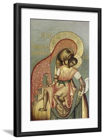 The Virgin Eleousa of Kykkos, 1668-Simon Ushakov-Framed Giclee Print