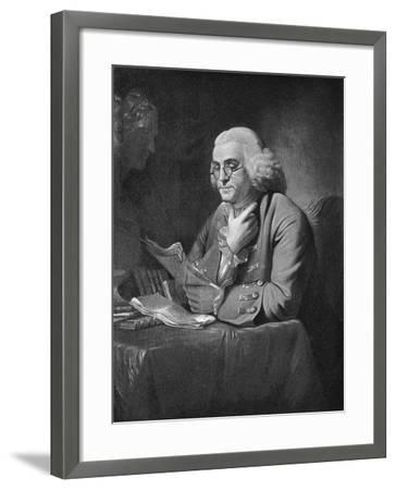 Benjamin Franklin, C1766-David Martin-Framed Giclee Print