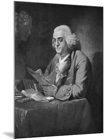 Benjamin Franklin, C1766-David Martin-Mounted Giclee Print