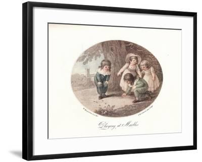 Playing at Marbles, 1906-Francesco Bartolozzi-Framed Giclee Print