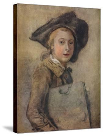 Portrait of the Artist as a Young Man-Francois Hubert Drouais-Stretched Canvas Print