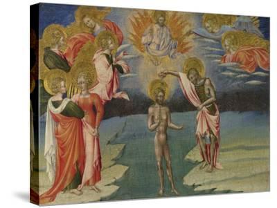 The Baptism of Christ (Predella Pane), 1454-Giovanni di Paolo-Stretched Canvas Print