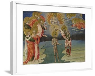 The Baptism of Christ (Predella Pane), 1454-Giovanni di Paolo-Framed Giclee Print